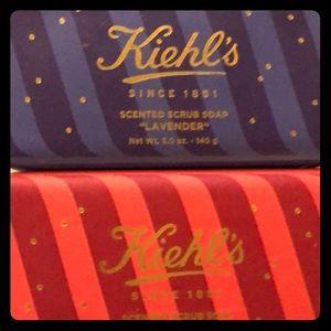 Kiehls scented scrub soap  grapefruit or lavender